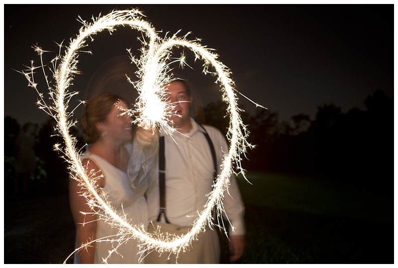 On the last leg of the very last sparkler, we managed to get a full heart!