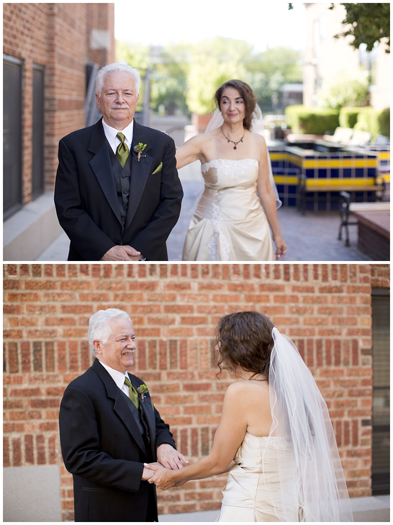 Dad's first look...always a favorite
