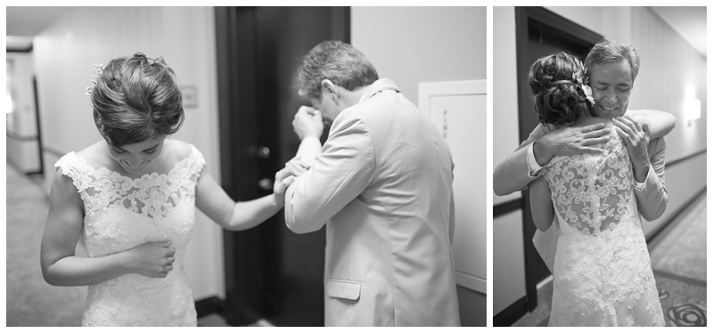 "This Father/Daughter first look is so special to me because Gene said he wouldn't need a tissue because he ""wasn't going to cry"" (he really was sure he wasn't), but the sight of his only daughter in her gown was too much for this tough guy ;)"