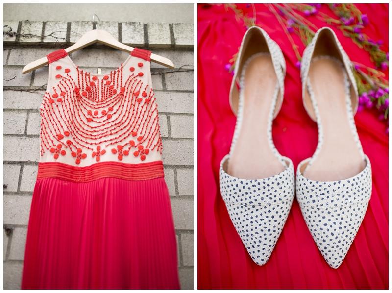 I've always loved colorful wedding dresses!