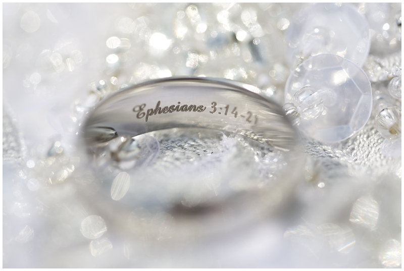 They each chose a verse to inscribe into each other's rings.