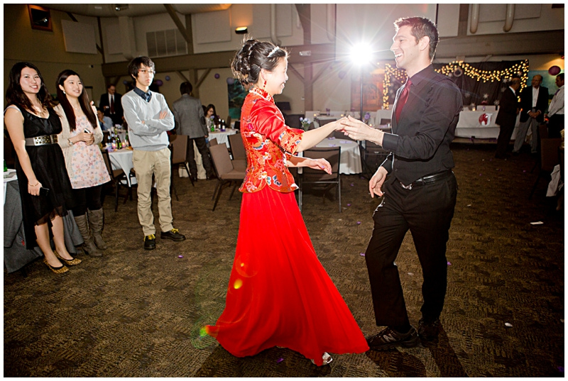 I loved the more traditional Chinese wedding dress Joy changed into after the ceremony!