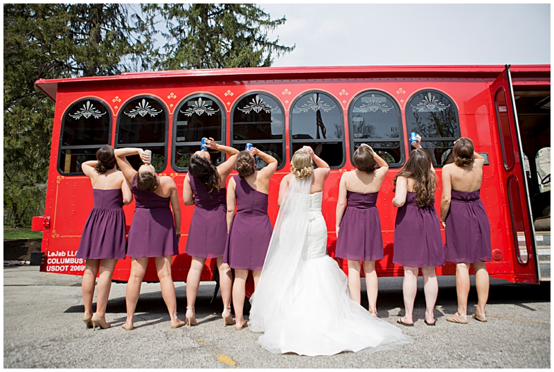 creative bridesmaid photo trolly