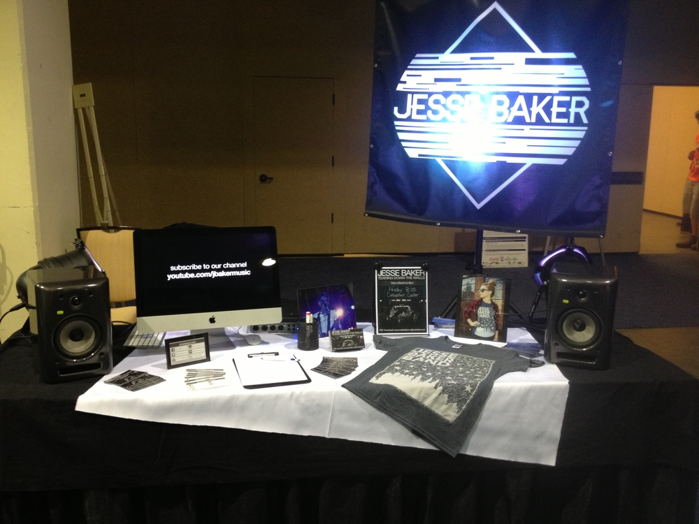 Jesse Baker booth in the LAUNCH 2013 trade show.