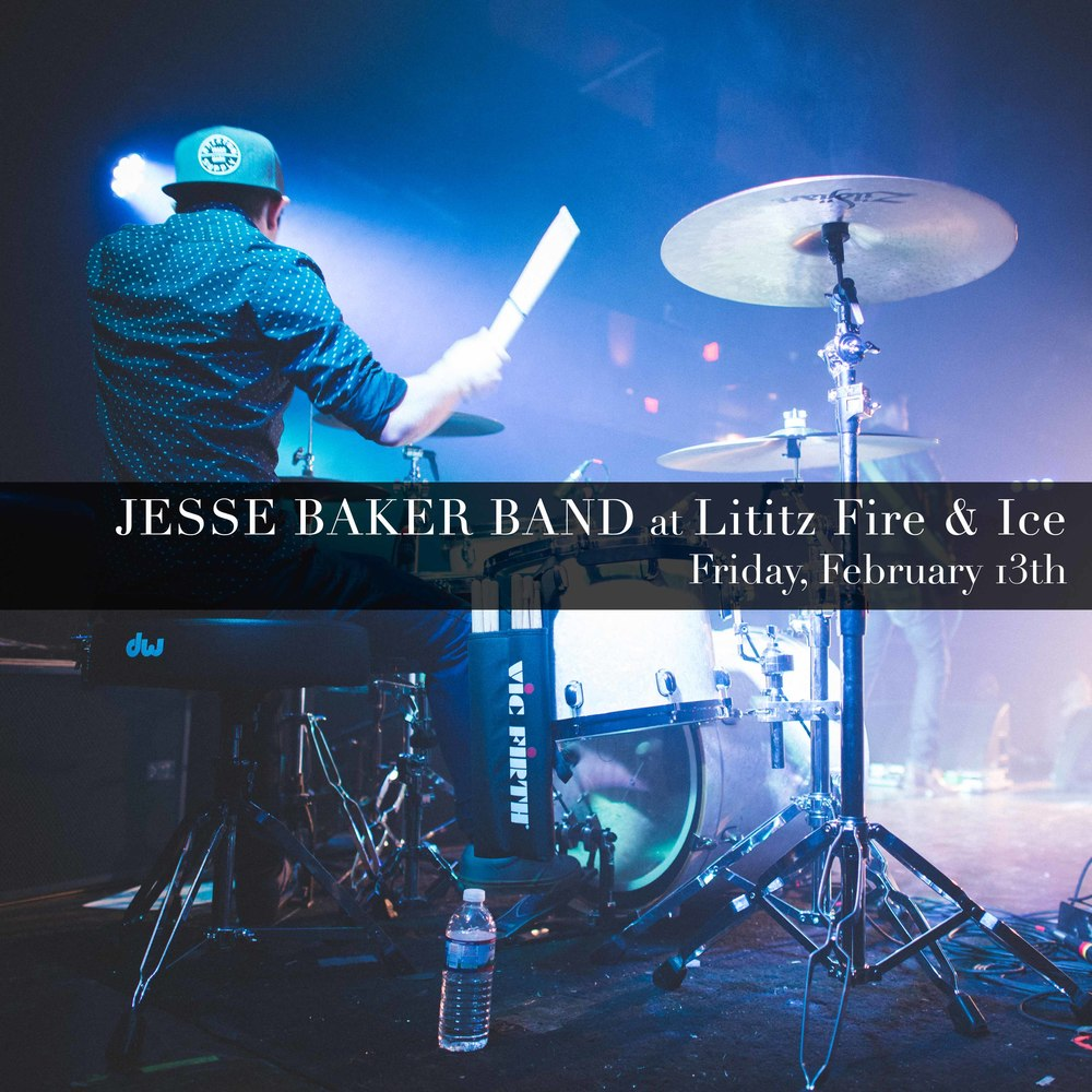 Jesse Baker Band @ Lititz Fire & Ice on Friday, February 13th.