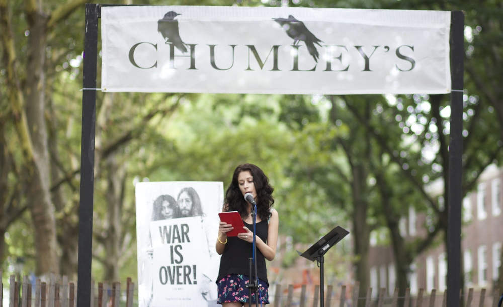 Reading at Chumley's Stage