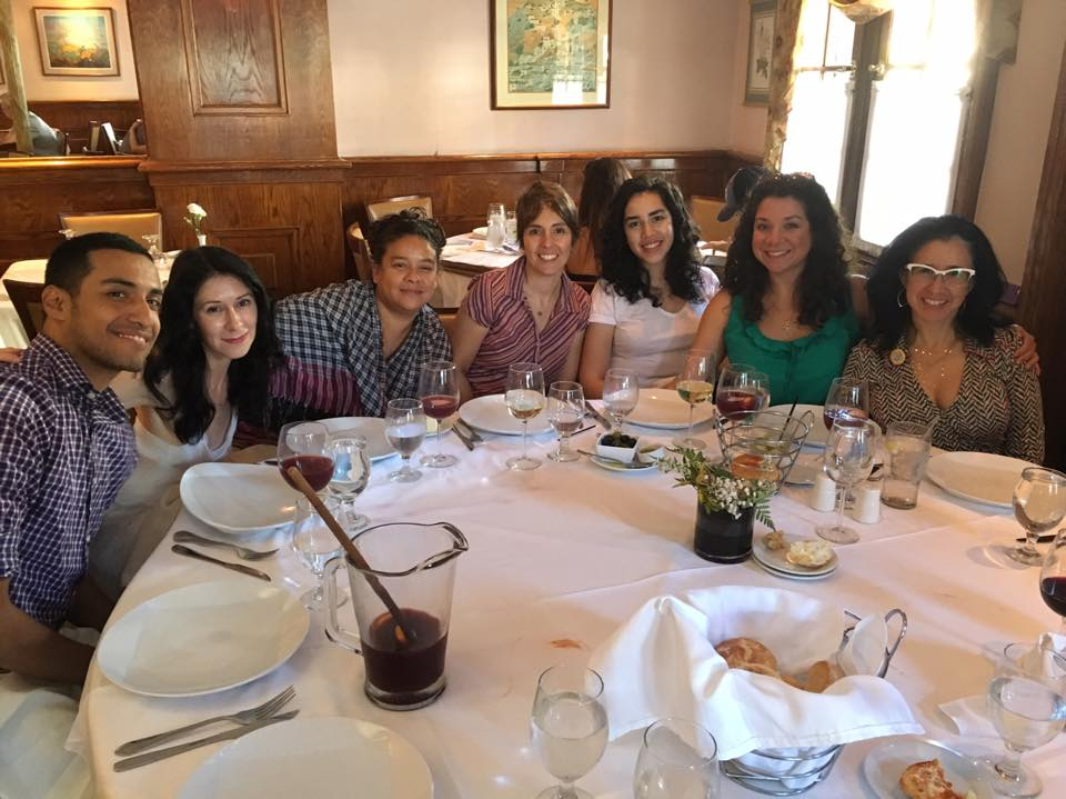 Post-Geraldine R. Dodge Poetry Festival/ CantoMundo reading — with Eddie Martinez, Rosebud Ben-Oni, Sheila Maldonado, Paula Neves, Celeste Guzman Mendoza and Deborah Paredez at Fornos Restaurant, in Newark, NJ.