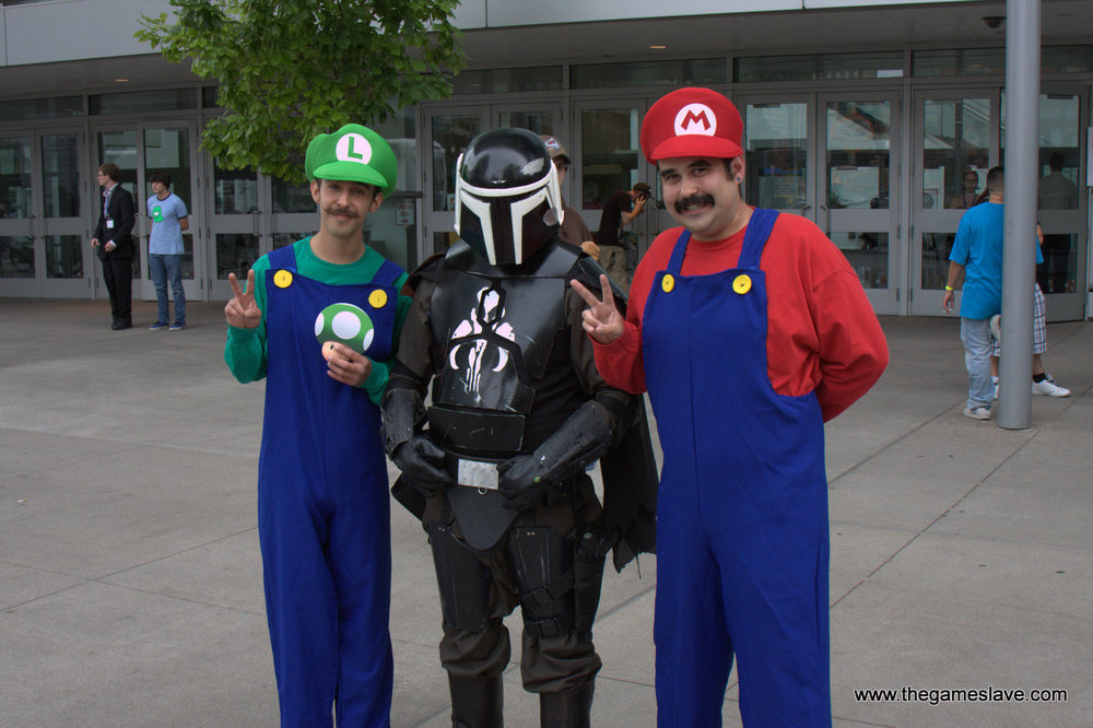 Mario, Luigi, and a Bounty Hunter