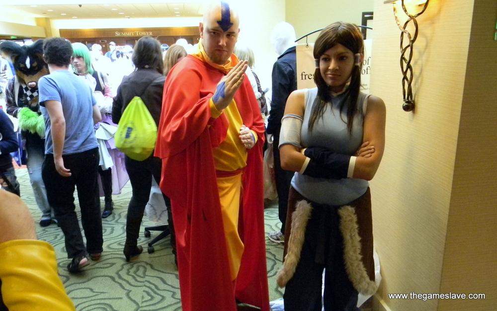 Tenzin and Korra from the Legend of Korra