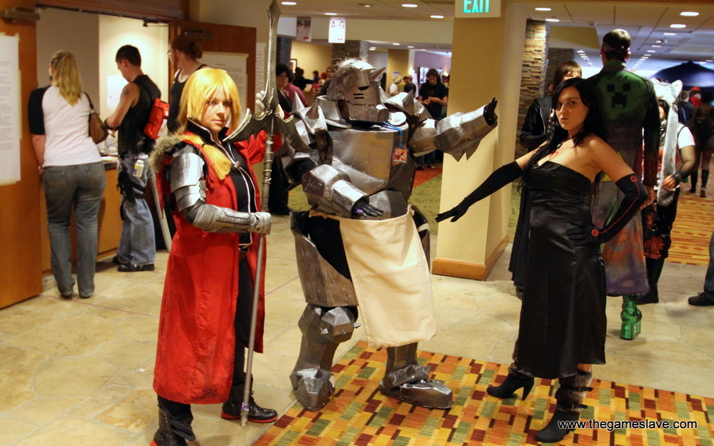 Ed, Al and Lust from Full Metal Alchemist