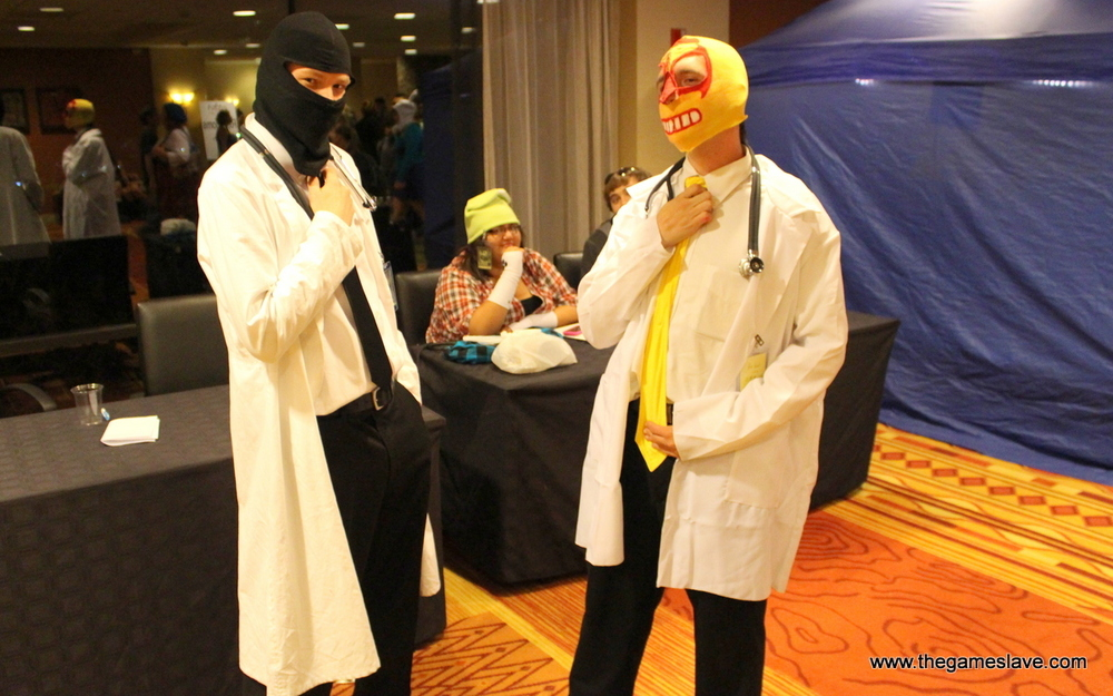 Dr. McNinja and ?? from Dr. McNinja webcomic