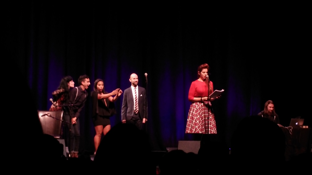 The Welcome to Night Vale cast and musical guest Eliza Rickman.