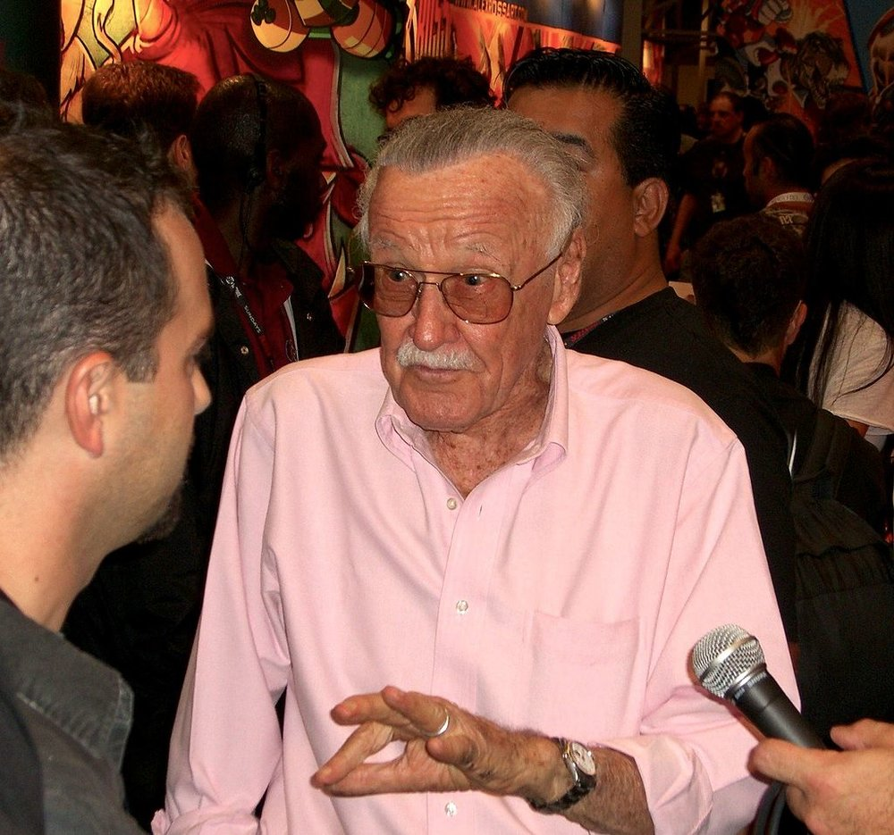 Lee promoting Stan Lee's Kids Universe at the 2011  New York Comic Con  - Attribution: Luigi Novi
