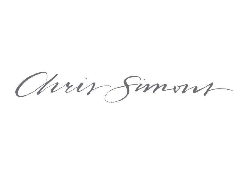 Chris Simons Custom logo for Oahu based wedding and portrait photographer, Chris Simons.