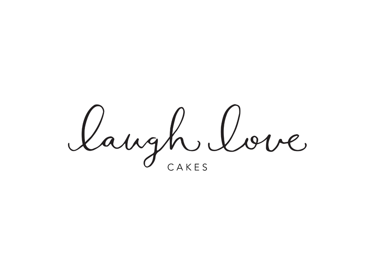 Laugh Love Cakes    Custom calligraphy logo for Winnipeg cake designer Kayla Milligan.