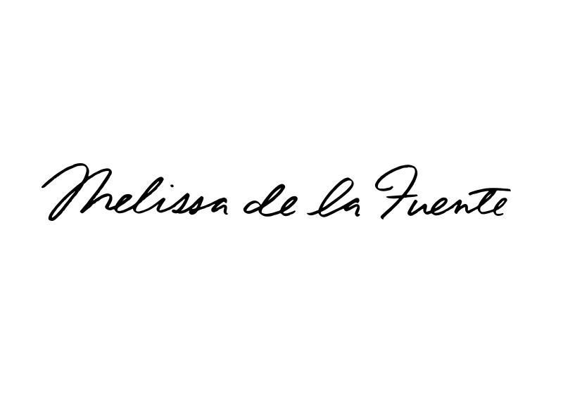 Melissa de la Fuente Custom logo for New Jersey based metalsmith and jewelry designer.