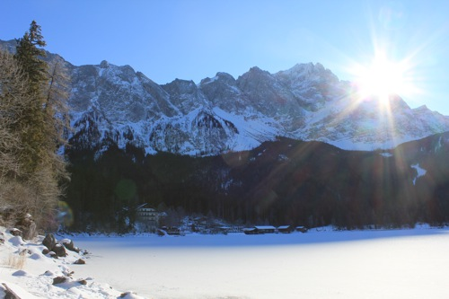 Sun over the Bavarian Alps