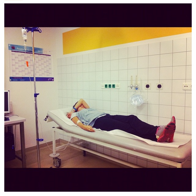 Hospitalized last year in Germany