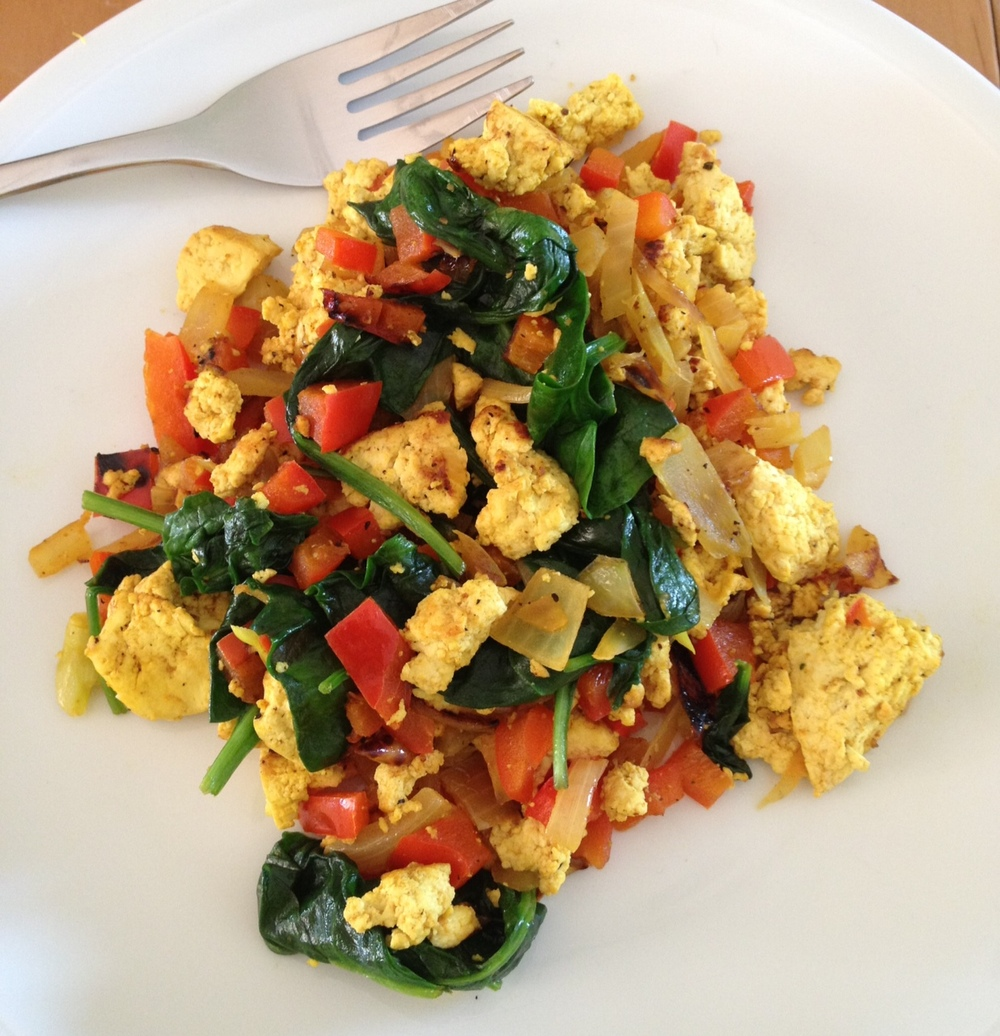 tofu scramble for breakfast
