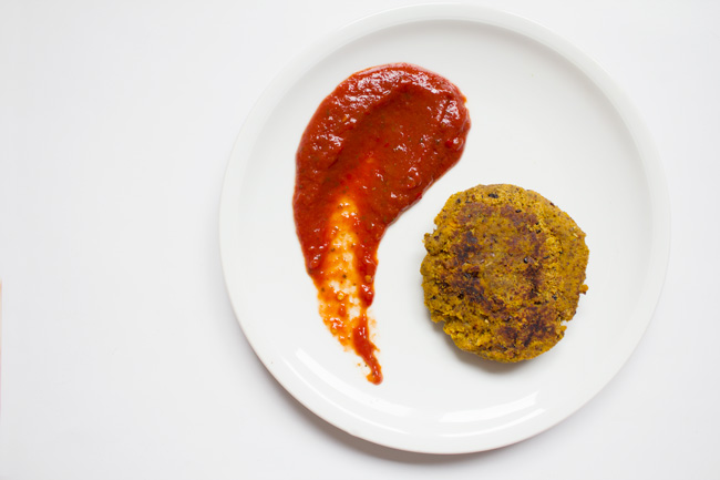 carrot pulp veggie burger - pin it!