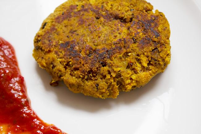 carrot pulp veggie burger