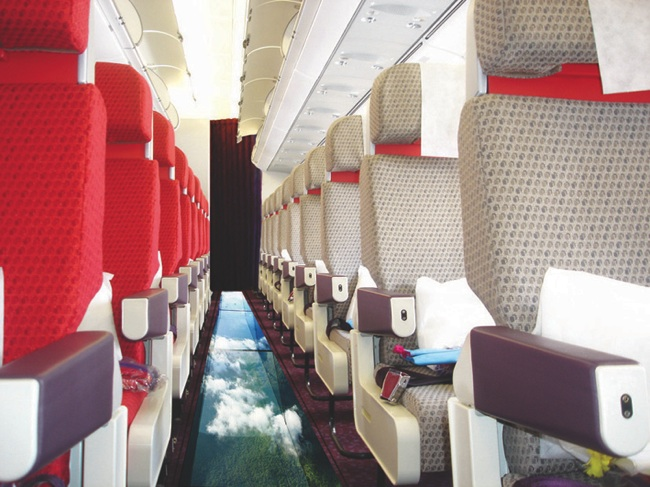 Virgin's glass-bottomed plane