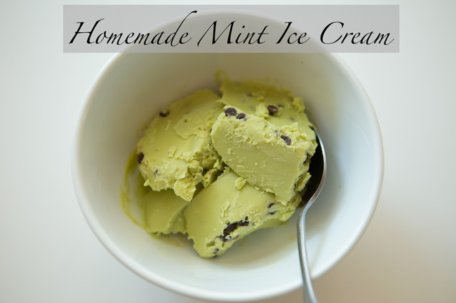 Healthy Homemade Mint Ice Cream with Avocado - Pin now, make later!
