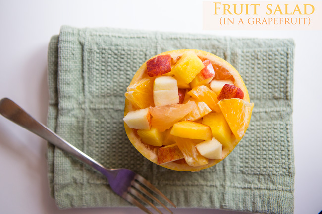 Grapefruit bowl - fruit salad