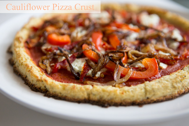 Gluten free cauliflower pizza crust- pin it!