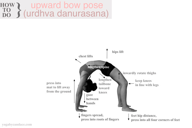 Click to enlarge. Tips for upward facing bow pose - pin it!