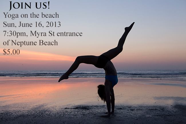 Yoga on the beach in Neptune Beach, Florida