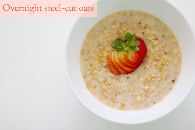 Overnight steel-cut oats - pin it!