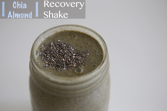 Chia Almond Recovery Shake - Pin it!