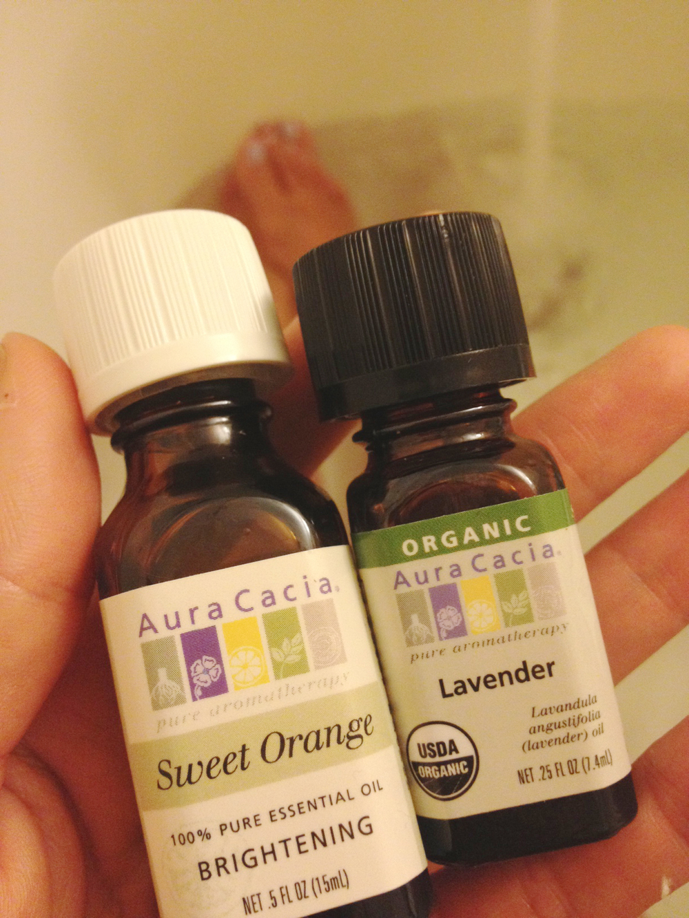 Sweet Orange and Lavender Essential Oils