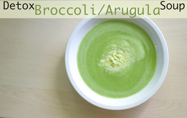 Pin it! Detox broccoli and arugula soup recipe