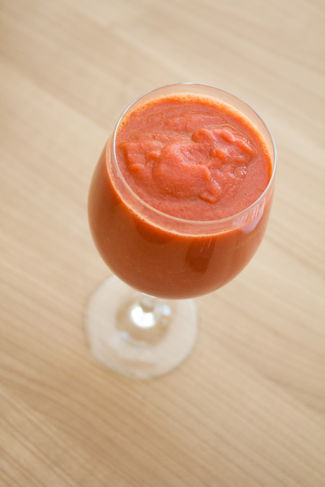 carrot & pear smoothie