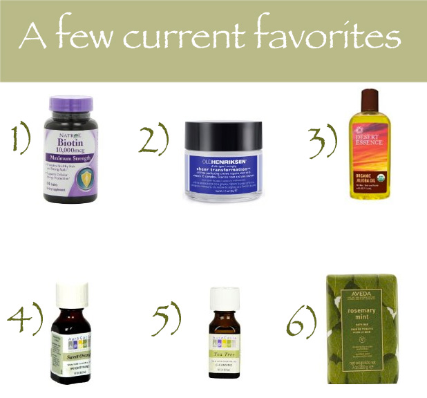 Current favorite beauty products