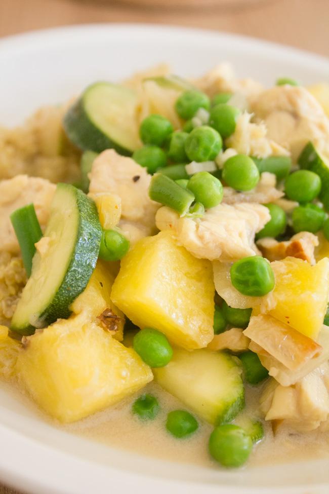 Pineapple ginger tempeh