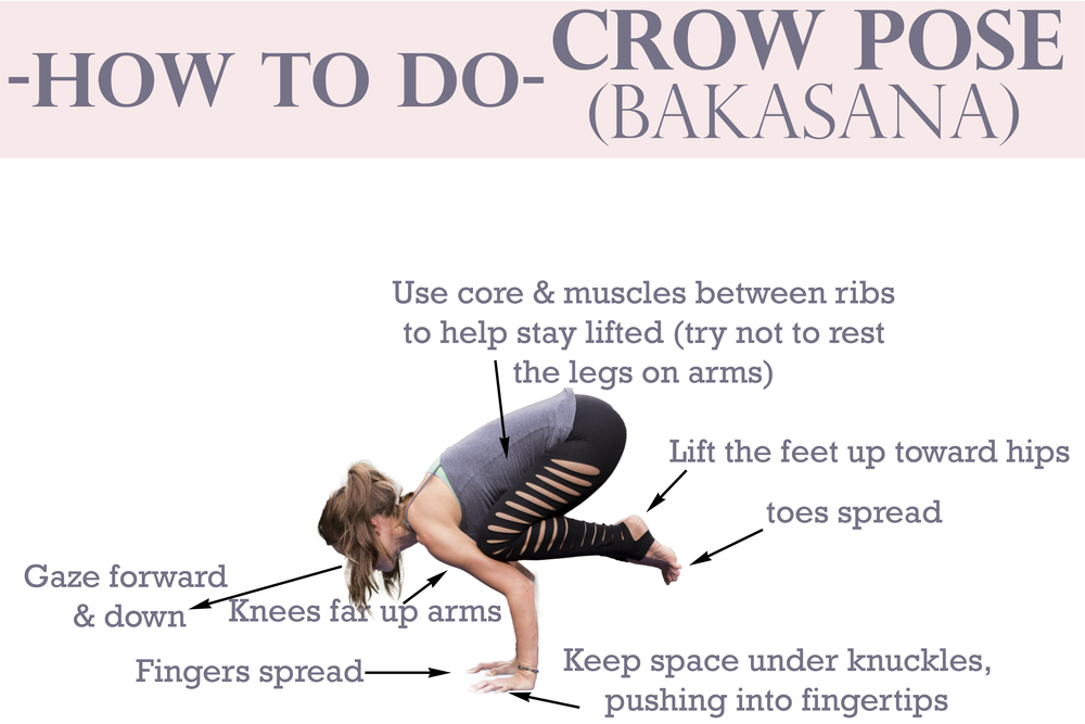 Pin it! How to do Crow Pose.