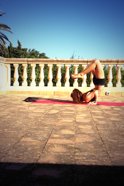 Yoga on the terrace