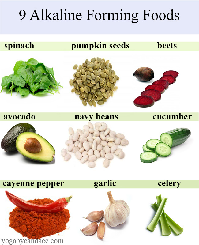 Pin it! 9 Alkaline Forming Foods