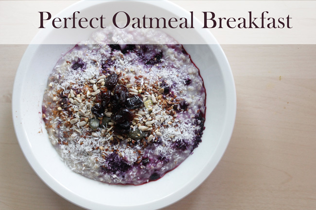 Pin it! Perfect oatmeal recipe