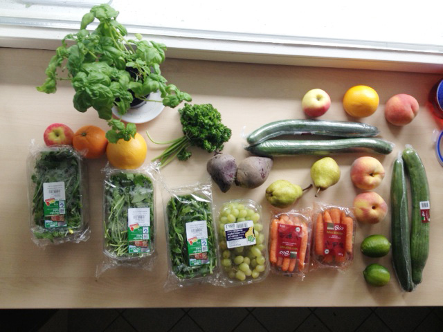 Fruits and veggies for juicing