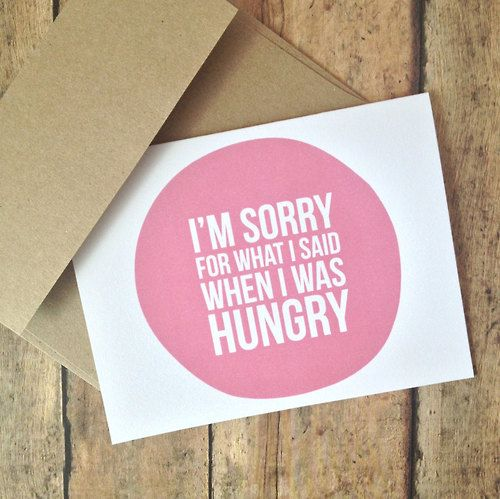 Irritable when hungry?