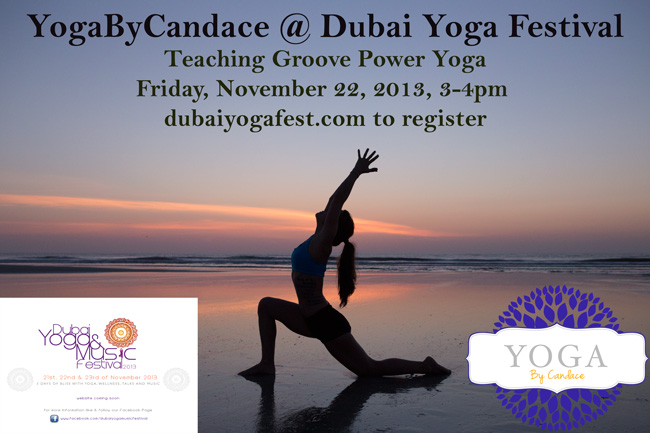 YogaByCandace teaching at Dubai Yoga Festival