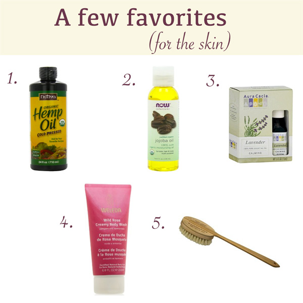 Current favorite skin care products