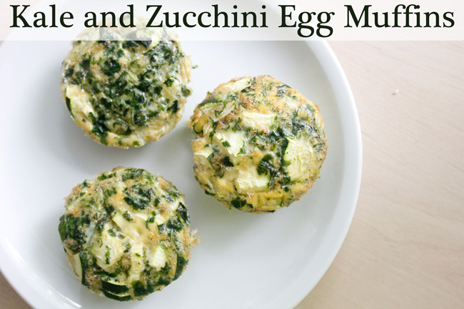 Pin it! Kale and egg zucchini muffin recipe.