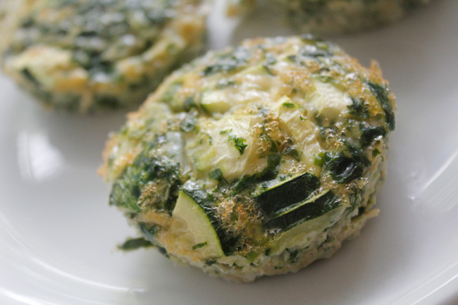 Paleo kale and egg zucchini muffin recipe