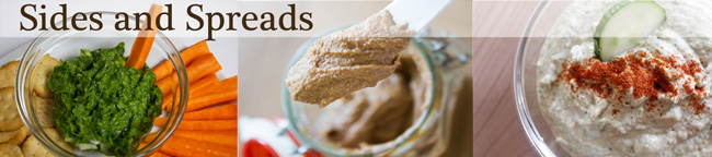 Recipes for healthy sides and spreads