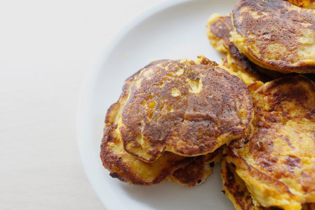 Fluffy butternut squash pancakes